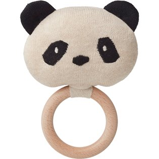 Aria Rattle - Panda Beige Beauty