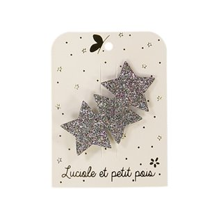 Three Star Hair Clip - Bronze Glitter