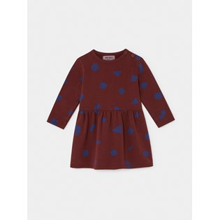All Over Stuff Fleece Baby Dress
