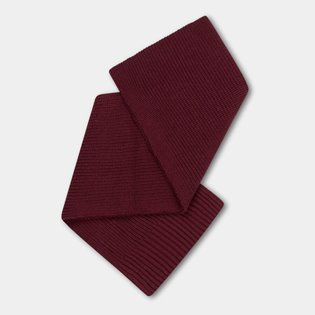 Knitted Scarf Small - Rosewood Red