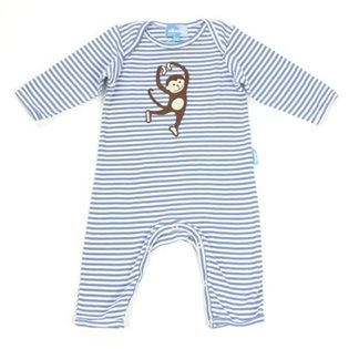 Dancing Monkey Playsuit - Blue