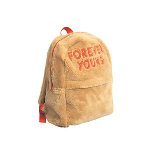 Faux Fur Backpack - Beige