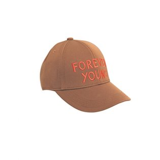 Forever Young Embroidery Cap - Brown