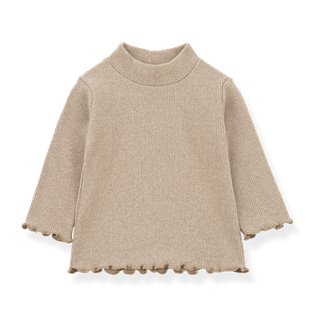 Nice Turtleneck Top - Beige