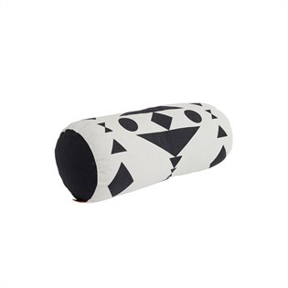 Cylinder Cushion - Black/White