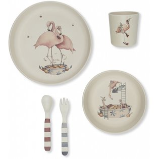Flamingo Dinner Set - Nature