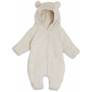 New born Onesie W/Hood - Caramel Mini Dots
