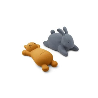 Vikky Bath Toys - 2 Pack - Cat Mustard