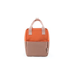 Small Backpack Colourblock  - Royal Orange