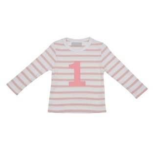 Dusty Pink & White Breton Striped Top With Age