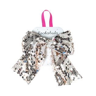 Super Sequins Bow Clip Gold