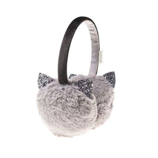 Glitter Cat Earmuffs Grey