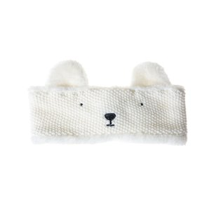 Polar Bear Knitted Head Band