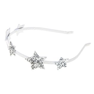 Star Glitter Alice Band Silver