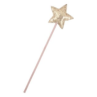 Glitter Rose Wand - Gold