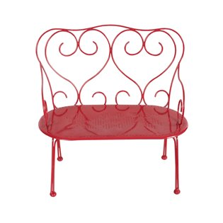 METAL BENCH MEDIUM - RED