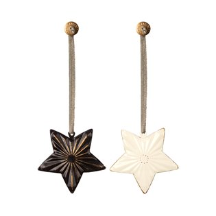 MAILEG ORNAMENT STAR, METAL 2 ASS.