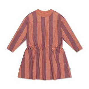Skater Dress - Peachy Block Stripe