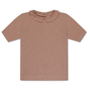 Repose AMS T shirt with collar - powder creme