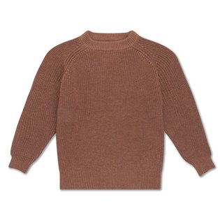 Knit sweater rusty marble