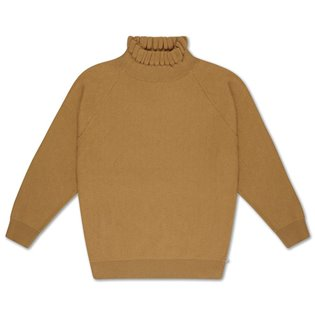 Knit sweater smooth camel