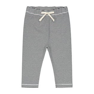 Baby Leggings - Nearly Black/Cream Stripe