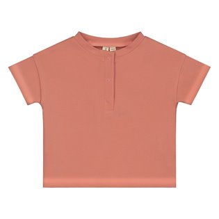 Baby S/S Henley Tee - Faded Red