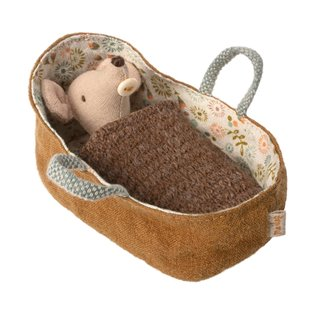 Maileg Mouse - Baby Mouse In Carrycot - New