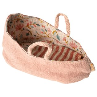 Maileg Mouse Carrycot - My - Misty Rose