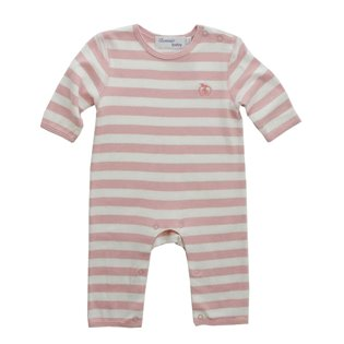 Stripe Cotton Playsuit - Dusty Pink
