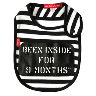 Been Inside For 9 Months Bib - Black