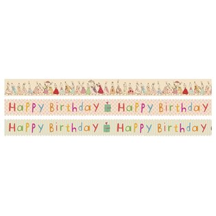 Maileg Masking Tape - Birthday - Set of 3 x 10 m