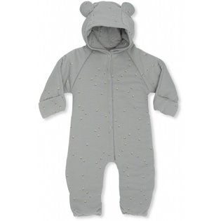 New Born Onesie With Hood - Mille Marine - French Blue