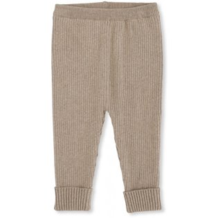 Meo Knit Pants Cotton - Brown Melange