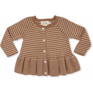 Meo Knit Frill Cardigan Cotton - Sahara Rice