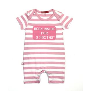 Been Inside 9 Mths SS Playsuit - Pink