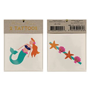 Mermaid & Sea Shells Tattoos