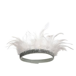 White Feather Party Headband