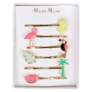 Tropical Enamel Hair Slides