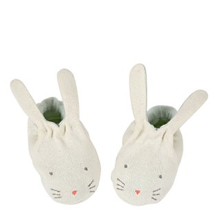 Mint Bunny Baby Booties