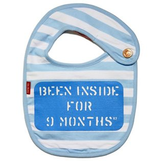 Been Inside For 9 Months Bib - Blue