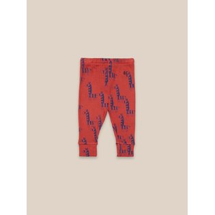 Zebras All Over Red Baby Leggings