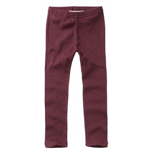 Plum Rib Legging