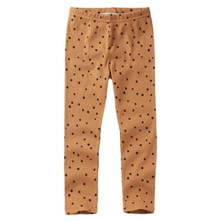 Dots Rib Legging - Caramel / Black
