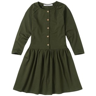 Forest Night Button Dress