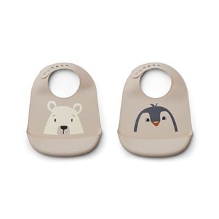 Tilda Silicone Bib 2-Pack - Artic Mix