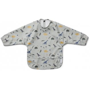Merle Cape Bib  - Dino Dove Blue Mix