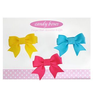 Itty Bitty Hair Bow Sets - Brights