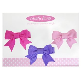 Itty Bitty Hair Bow Sets - Purple