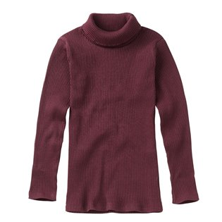 Rib Turtle Neck - Plum